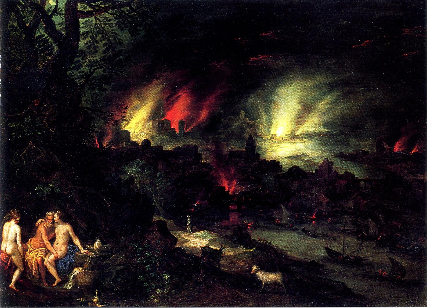 Jan Brueghel-Sodoma Gomorra copia